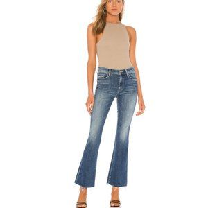 Mother Denim The Weekender Fray cropped flare jeans in Groovin size 25
